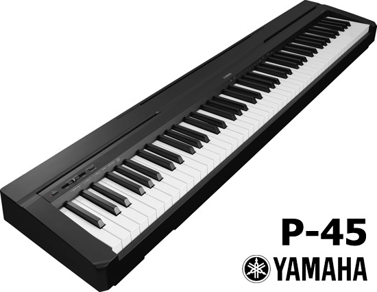 yamaha p45 b digital slab piano 88 notes weighted action