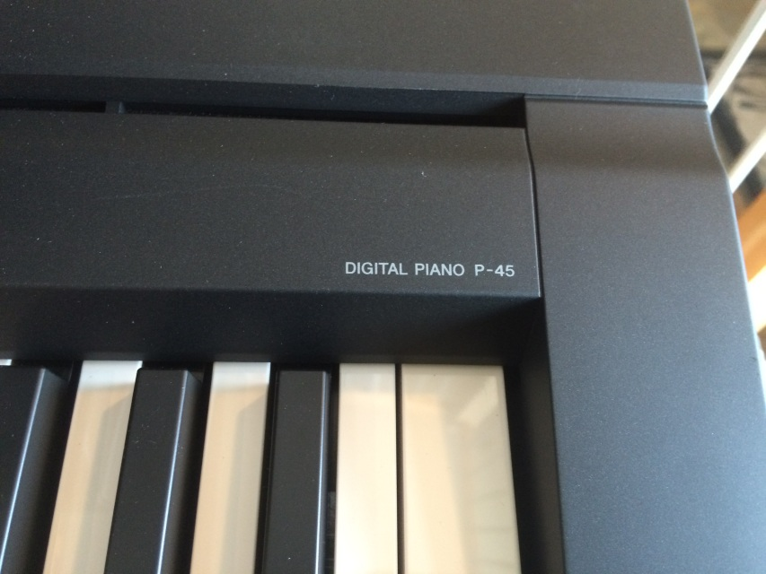 yamaha p45 b digital slab piano 88 notes weighted action. Black Bedroom Furniture Sets. Home Design Ideas